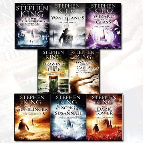 Stephen King Dark Tower Collection 8 Books Set (1 to 8 Books Set) (The Gunslinger, the Drawing of the Three, the Waste Lands, Wizard and Glass, Wolves of the Calla, Song of Susannah, The Dark Tower & [hardcover]The Wind through the Keyhole) (The Dark Tower The Wind Through The Keyhole)