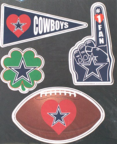 Cowboys Magnets Dallas (Dallas Cowboys 4 Pack Team Magnets)