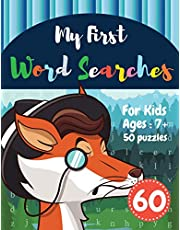 My First Word Searches: 50 Large Print Word Search Puzzles : word search for kids ages 6-8 activity workbooks | Ages 7 8 9+ clever fox Design (Vol.60)