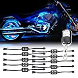 neon automotive paint - 10 Pods RGB Accent LED Light Kit Glow Neon Remote Multi-color for Truck Car Motorcycle LED Rock Light kit