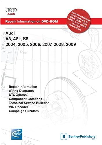 audi a8 a8l s8 2004 2005 2006 2007 2008 2009 repair manual on rh amazon com 2012 Audi A8 1997 Audi A8 Problems