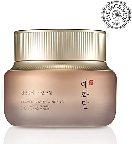 [THEFACESHOP] Yehwadam Heaven Grade Ginseng Regenerating Cream, Premium Skin Care, Traditional Korean Herbs And Ginseng For Anti-Aging, Wrinkle Care Treatment (50mL/1.69 Oz)
