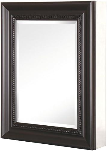 Pegasus SP4609 Deco 20-Inch Framed Medicine Cabinet, Espresso