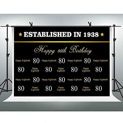 Mehofoto - Pancarta para decoración de Fiesta de cumpleaños, 50 años, 60 años, 70 y 80 cumpleaños, 7 x 1,5 m: Amazon.es: Electrónica
