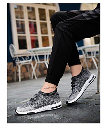 maschile mesh moda uomo Dark da da paio da di Walking in traspirante Grey scarpe unisex calzature uomo sulle scivolano Slipon casual uomo Scarpe cCqxP7C