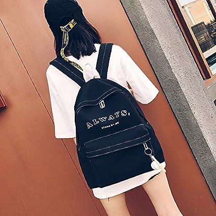 Girl backpack PU matte simple little fresh shoulder bag,black
