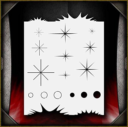 Sparkle Freehander AirSick Airbrush Stencil Art Design Template - Reusable Multi-Layer Painting Patterns for Cars, Motorcycle, Tatoos, Walls, Cakes, T-Shirts, Hair, Scrapbooks Etc