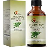 100% Pure Rosemary Essential Oil for Therapeutic Aromatherapy Stimulating Scalp Treatment for...