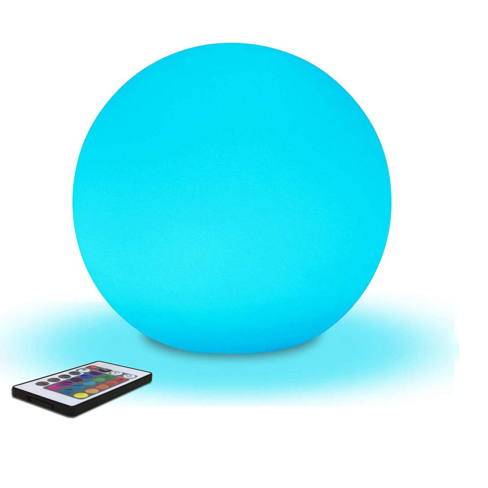 AbbottoKaylan RGB Color-Changing LED Light Ball with Remote Rechargeable Kids Night Light Mood Lamp 16 Dimmable Colors & 4 Modes Ideal for Kids Bedroom Garden Pool Party Decoration (4.7'') by AbbottoKaylan (Image #6)