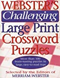 Webster's Challenging Large Print Crossword Puzzles, Merriam-Webster, 1892859939