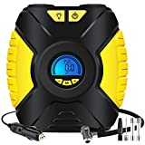Cheap Tire Inflator, Ansteker Portable Air Compressor Pump Large LED Display Low-voltage and Fast Filling for Automobile Inflating Motorcycle,Bicycle and Other Tourism Entertainment Product,SOS Flash Light
