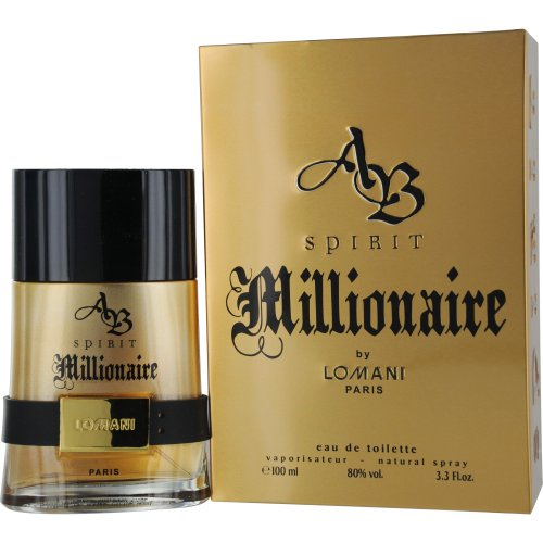 Lomani Citrus Cologne - AB Spirit Millionaire Eau De Toilette Spray for Men, by Lomani, 3.3 Ounce