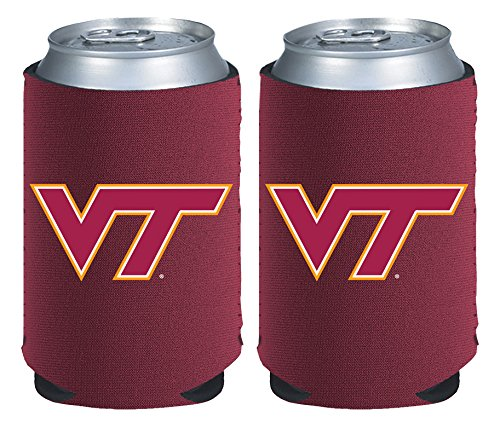 NCAA Virginia Tech Hokies Magnetic Kolder Kaddy, 2-Pack, Maroon (Tech Kaddy)