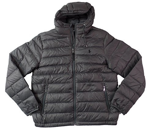 Ralph Lauren Down Puffer (Polo Ralph Lauren Mens Full Zip Hooded Puffer Jacket (Large, Grey))