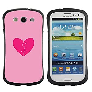 LASTONE PHONE CASE / Suave Silicona Caso Carcasa de Caucho Funda para Samsung Galaxy S3 I9300 / Love Pink