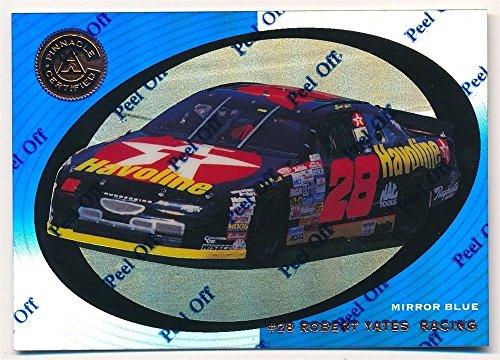 ERNIE IRVAN CAR 1997 PINNACLE CERTIFIED #53 MIRROR BLUE ROBERT YATES RACING C5