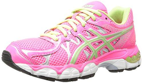 Asics Gel-Nimbus 16 GS Running Shoe (Little Kid/Big Kid),Hot Pink/Mint/Lightning,4.5 M US Big Kid