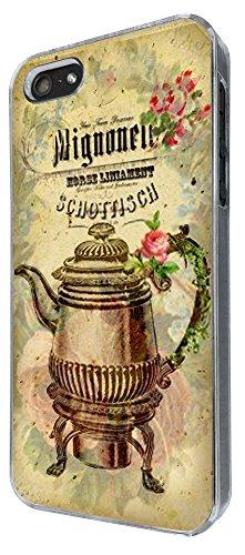 536 - Vintage Shabby Chic Victorian Art Floral Roses Design iphone 5 5S Coque Fashion Trend Case Coque Protection Cover plastique et métal