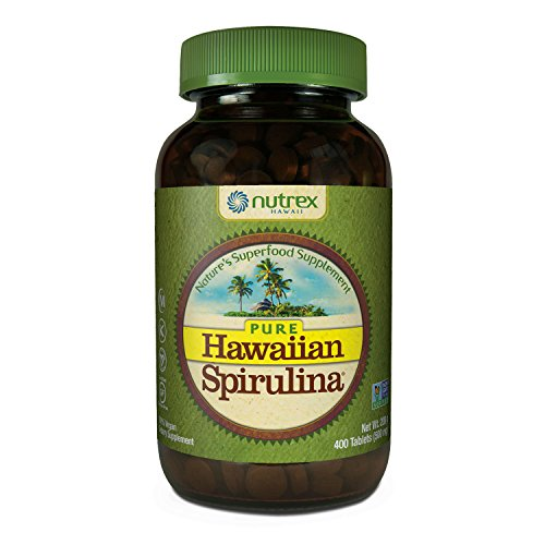 Pure Hawaiian Spirulina - 500mg tablets 400 count – Boosts Energy and Supports Immunity – Vegan, Non GMO – Natural Superfood Grown in Hawaii by Nutrex Hawaii