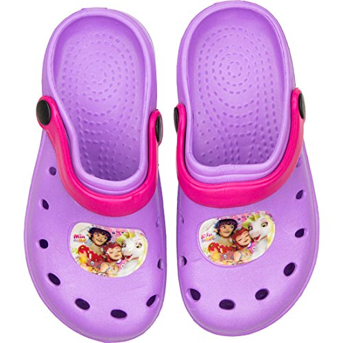 Mia And Me Kinder Badesandalen Badeschuhe Clogs in Lila mit tollem Mia And Me-Motiv,24/25