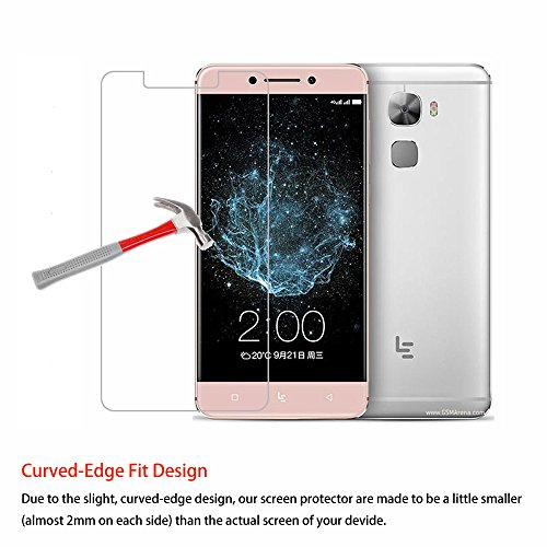 Price comparison product image LeEco Le Pro 3 / Pro3 Tempered Glass Screen Protector Helianton 9H Hardness Easy Paste Anti-burst Anti-Scratch Anti-Explosion Rounded Edge Screen Protector (Glass)