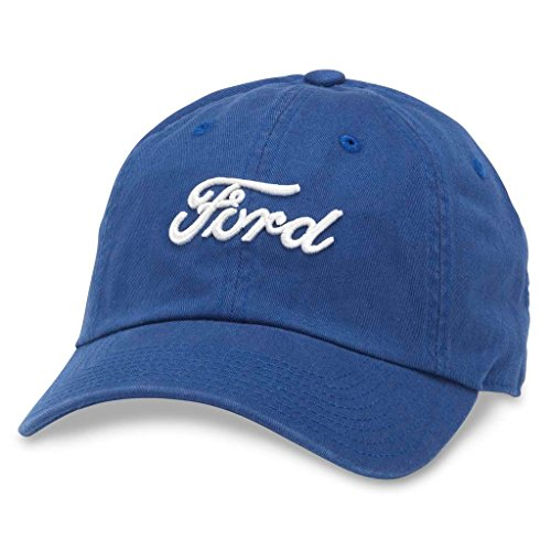 (American Needle Ballpark Ford Logo Casual Dad Hat, Bay Blue (FORD-1701A))