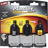Master Lock Magnum Covered All Weather Laminated Steel 1-3/4'' 1-1/2'' Ka Steel Uses M1 Key Blank Pack