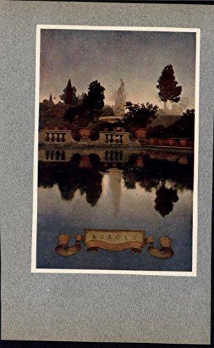 (Boboli Gardens Florence Italy Maxfield Parrish c.1903 antique color art print)