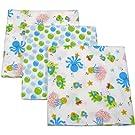 Little Bedding by Nojo Ocean Dreams Flannel Blanket, 3-pack