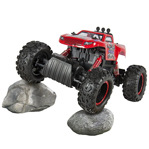 Best Choice Products 4WD Powerful Remote Control Truck RC Rock Crawler & Monster Wheels - Red