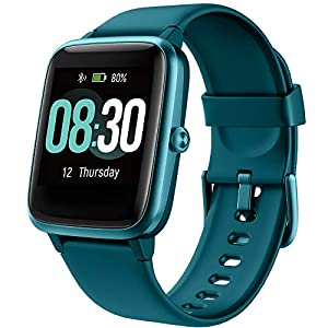 UMIDIGI GPS Smart Watch, Activity Fitness Tracker with Heart Rate Monitor, 1.3″ Touch Screen Pedometer Smartwatch for Mens Womens, 5ATM Waterproof Step Counter Compatible with iPhone, Samsung, Android
