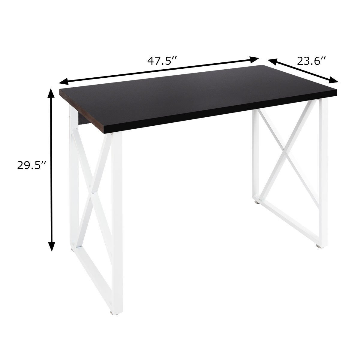Tangkula Writing Table Computer Desk, Home Office Desk, Modern Simple Style Wood Study Workstation Writing Desk, Wooden Computer Table