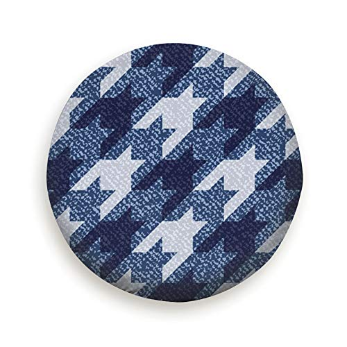 - Spare Tire Cover Jeans Houndstooth Tartan Geometric Print Abstract Polyester Water Proof Dust-Proof Universal Spare Wheel Tire Cover Fit for Jeep,Trailer, Rv, SUV and Many Vehicle