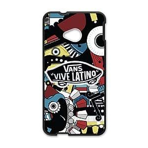 Plastic Cases Iihle HTC One M7 Cell Phone Case Black Vans Generic Design Back Case Cover