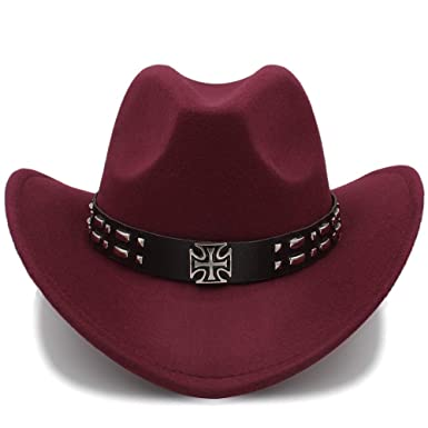 6230aff61ac CSNMALL 2018 Winter Cowboy Hat for Men and Women Wool Eversion Wide-Brimmed  Outdoor Travel