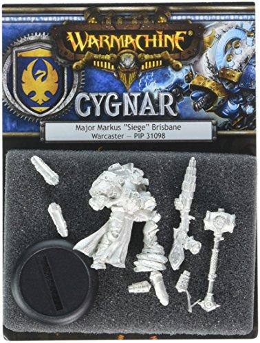 (Privateer Press Warmachine: Cygnar Major Markus 'Siege' Brisbane Model Kit)