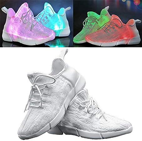 Hombre y Mujer Zapatillas Running 2019, Otoño e Invierno LED Zapatos Niño y Niña, Colores USB Carga Zapatos para Correr Deporte de Zapatillas para Regalos de Cumpleaños: Amazon.es: Hogar