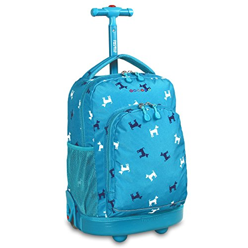 - J World New York Sunny Rolling Backpack, Puppy, One Size