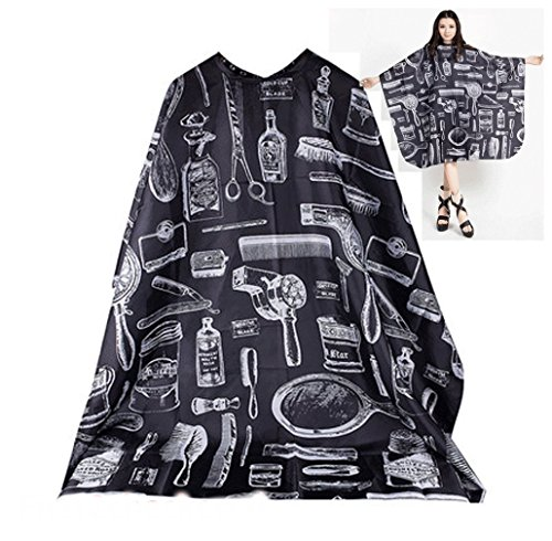 - Hair Cutting Cape Large Salon Hairdressing Hairdresser Gown Barber Cloth Black