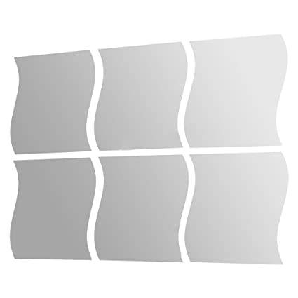 Superbe Eshion 6pcs DIY Mirror Tile Sticker Art Mural Decoration Decal Home Wall  Decor