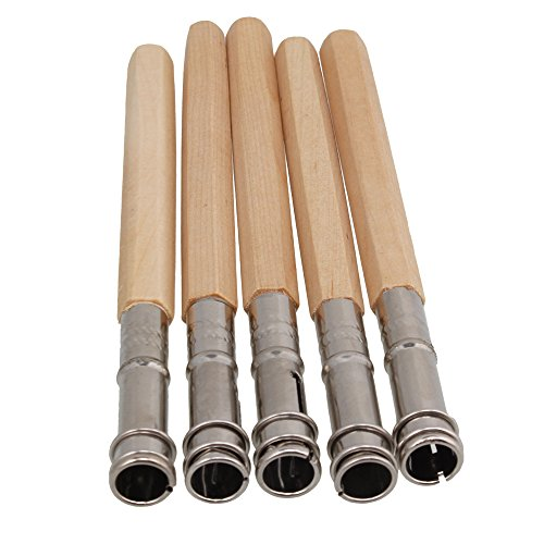 WEONE 9mm Diameter Odd Head Art Pencil Lengthening Lengthener Pencil Extender Holder Adjustable Dual Head Art Writing Hobby Tool Color Random (Pack of 5)