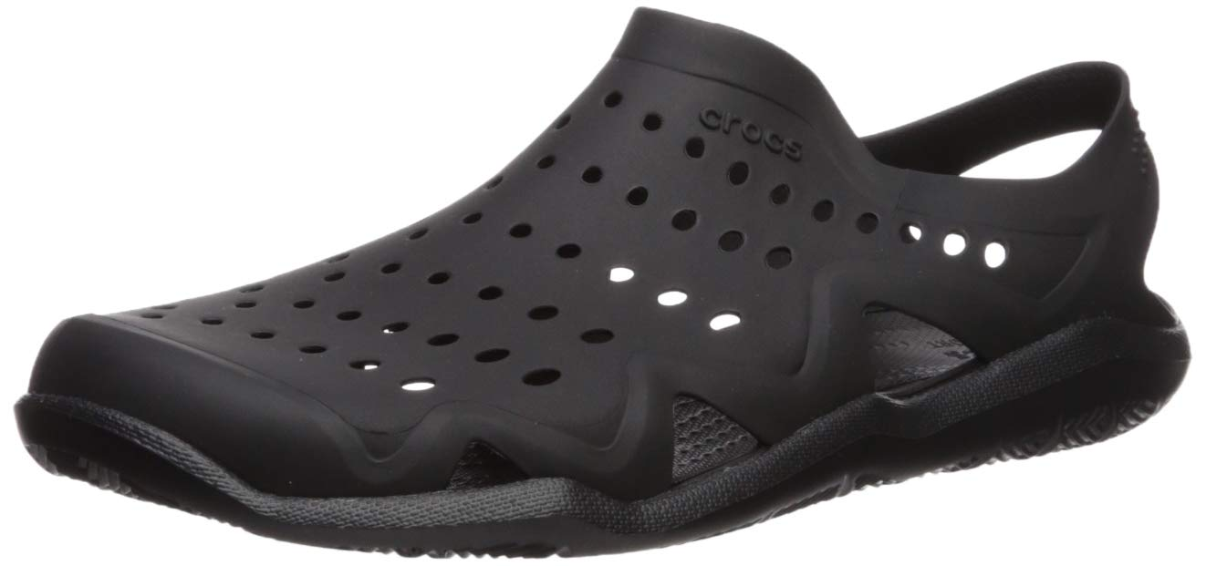 Crocs Men's Swiftwater Wave M Water Shoe Black, 11 M US