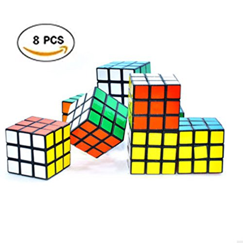 8 Pcs Mini Colorful 3x3 Cube Puzzle Game Toy for Party Favors(8 Pack)