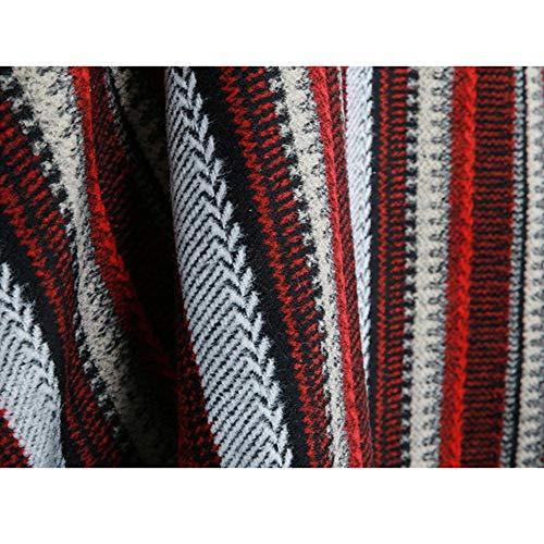 Maglione Scialli Turtle Mantello Striped Pullover Con Rosso Neck Frange Casual Cardigan Donne Classico Yliansong colore Rosso Womens Knit Poncho Winter Mantella 7zgxnEwS