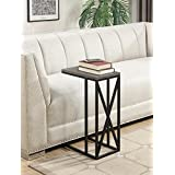 Convenience Concepts Tucson C End Table, Weathered Gray / Black