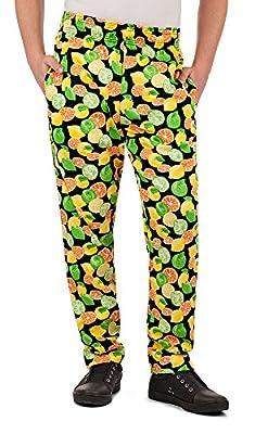 Men's Citrus Print Chef Pant (XS-3X) (Medium)