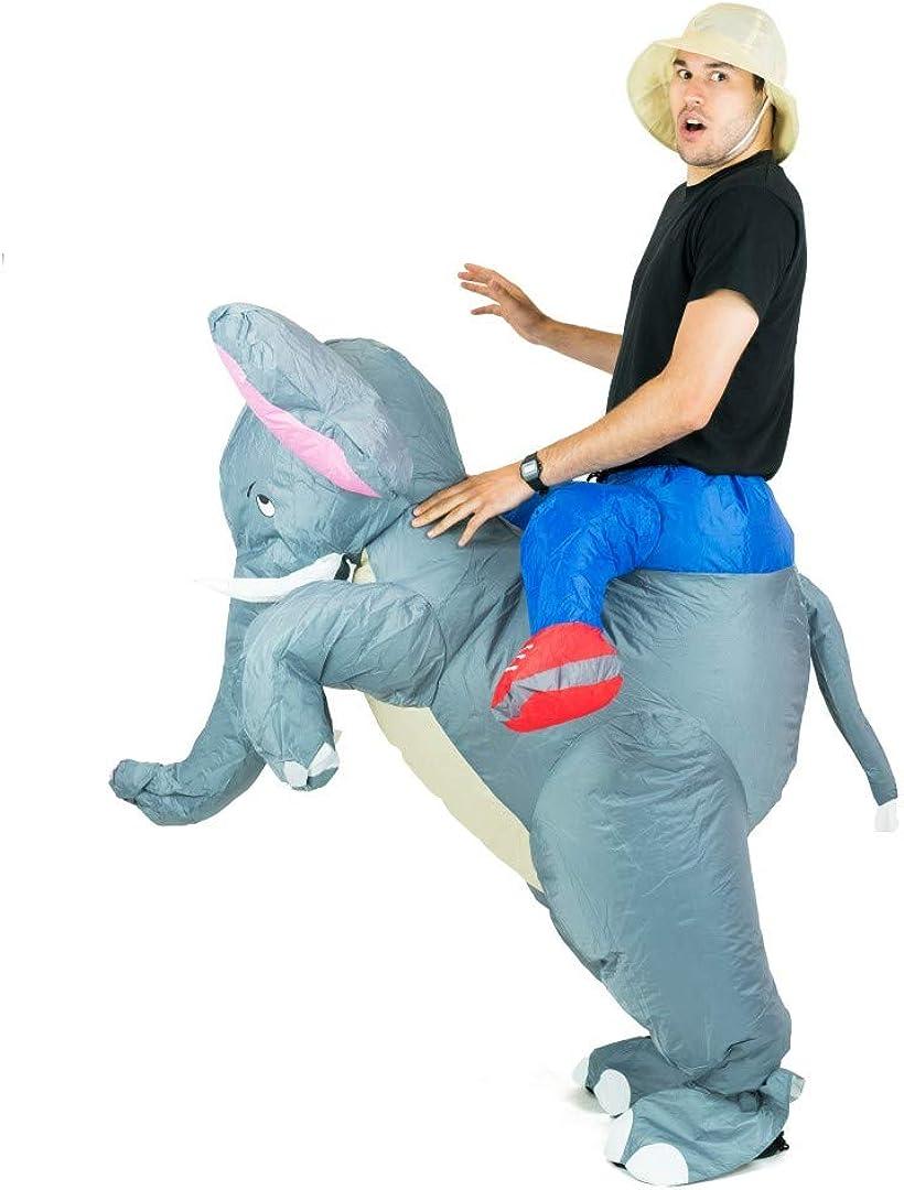 Bodysocks® Aufblasbares Elefanten Kostüm für Erwachsene Tier Zoo Safari Dumbo
