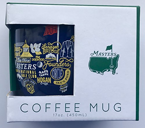 2019 Masters golf coffee mug navy augusta national collage pga new