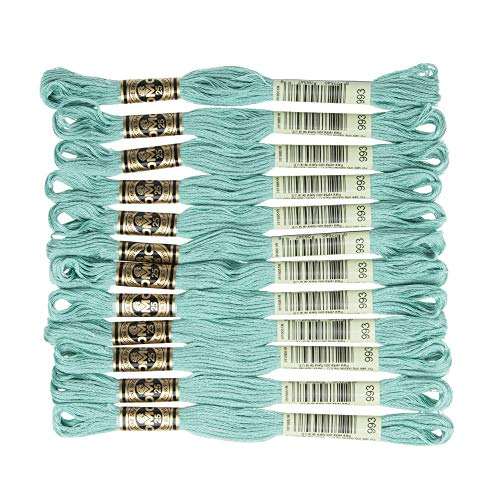 DMC 6-Strand Embroidery Cotton Floss, Light Aquamarine (Strand Bracelet Aquamarine)