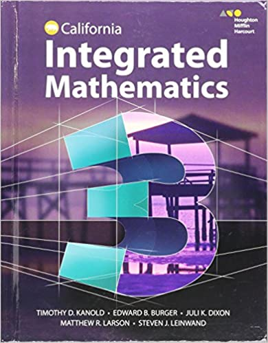 HMH Integrated Math 3: Student Edition 2015: HOUGHTON